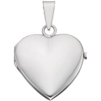 5d46200162e Blank hjerte medaljon til foto & gravering i sølv, guld og tre ...