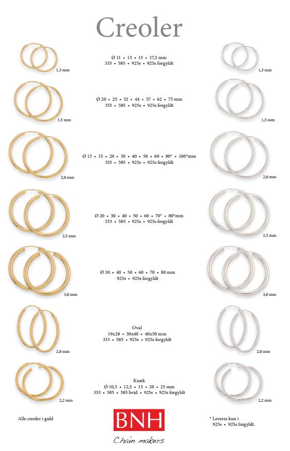 8470b6c8 Se vores mange lækre forskellige størrelser Creol øreringe fra BNH her