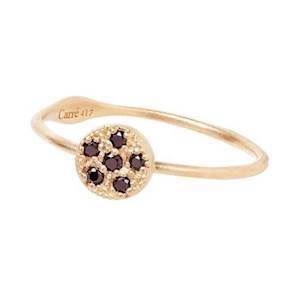 Carré Lady Luck 10 kt guld Fingerring matteret, model RE2383BD