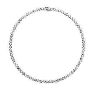 Diamonfire Tennis Collier i sterling sølv med zirkonia, 42 cm