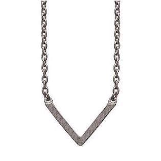 frk Lisberg Vibeplain 925 Sterling sølv Collier sort rhodineret, model Vibeplain3171-925rut