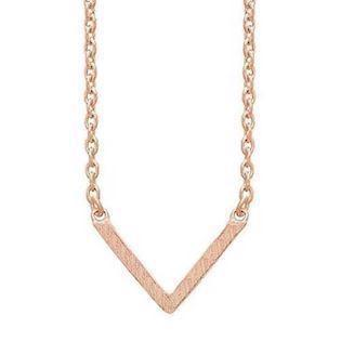 frk Lisberg Vibeplain 925 Sterling sølv Collier 14 karat rosa forgyldt, model Vibeplain3171-rosa