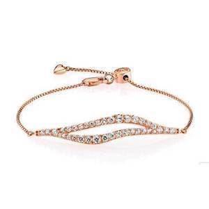 Izabel Camille High Society 925 Sterling sølv Armbånd blank rosa forgyldt, model A3043rgs