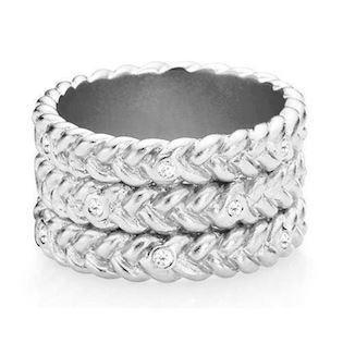 Love Braid-large, sølv ring fra Izabel Camille