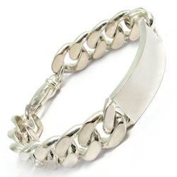 Panser Facet 925 sterling s�lv armb�nd m/ plade, 18� cm og 5,3 mm
