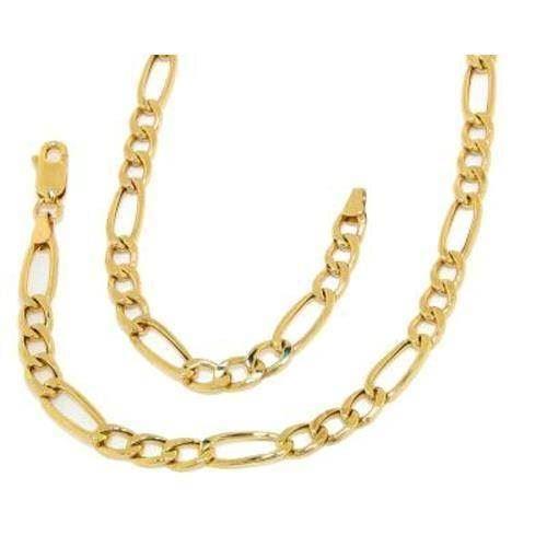5bb5e22a161 14 kt Rød- / hvidgulds Figaro guld armbånd og halskæder