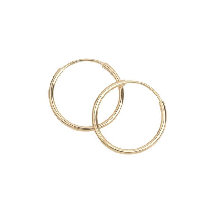 ce8fc3388ad ... forgyldt sølv øreringe, creol Ø 15 mm med blank overflade, model  208603. Model 208603, blank hos Guldsmykket.dk