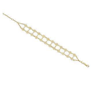 c82ad2b4a33 Lund Marguerit armbånd i forgyldt sølv med hvid emaljeret blomster - 2  rækker á 5,