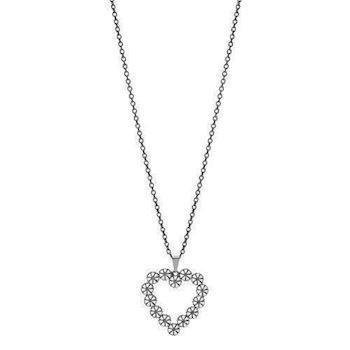 Lund Marguerit 925 Sterling sølv Collier Sort rhodineret, model 90225245-H-RH