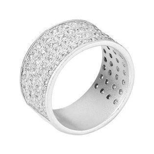 Lund  925 Sterling sølv Fingerring mat med zirkonia, model 907174-30
