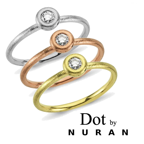 Dot by Nuran, rå single diamanter der kan voske med årerne