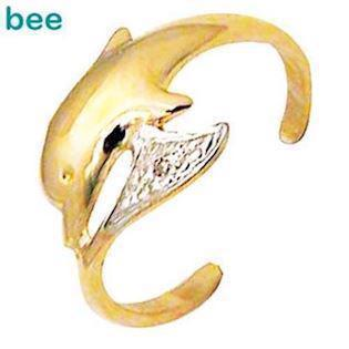 9 kt guld delfin t�ring m/ 0,005 ct