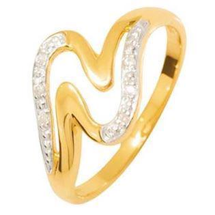 R�dgulds ring med 6 diamanter