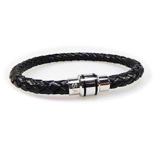 San - Link of joy Men's Jewellery by San Læder/rustfri stål armbånd blank, 18-23 cm