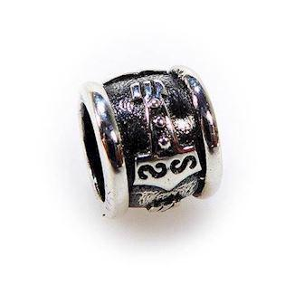 San - Link of joy Viking Oxidised sterling sølv Charm blank, model 5802