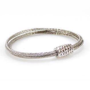 San - Link of joy  925 sterling sølv armbånd rhodineret, model 86805