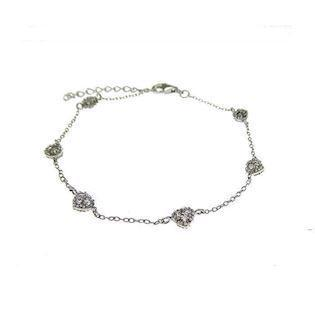 San - Link of joy CZ sets & Tennis Bracelets sterling sølv armbånd blank, model 88105