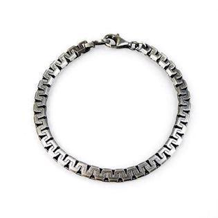 San - Link of joy Men's Silver Chains 925 sterling sølv armbånd blank