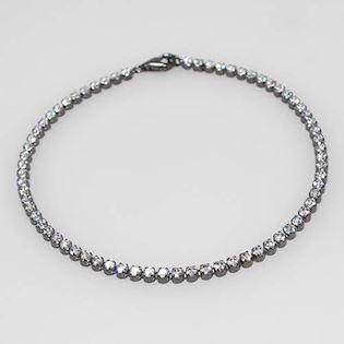 San - Link of joy  925 sterling sølv armbånd sort rhodineret, model Tennis- 14-AH