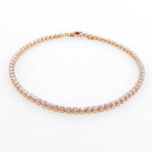San - Link of joy  925 sterling sølv armbånd rosa forgyldt, model Tennis- 18- AH