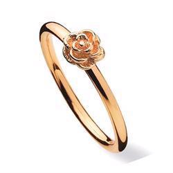 Spinning Flower, 8 kt fingerring med romantisk blomster ring