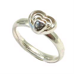 Multi hjerte Spinning sterling s�lv ring