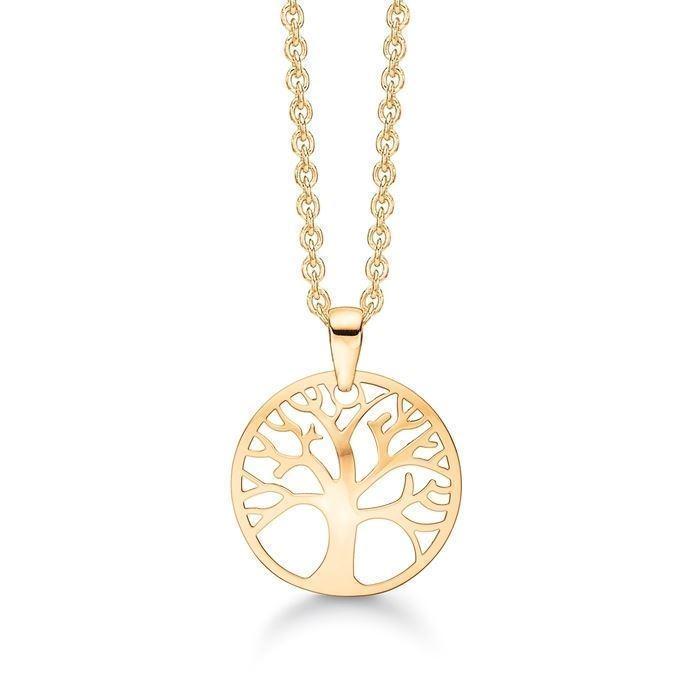 b832486ebb9 66117013, Støvring Design 8 kt guld halskæde med vedhæng, Tree of ...