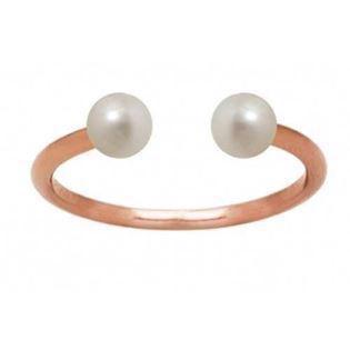 Zöl Pearl Duo rosa forgyldt sterling sølv Top fingerring blank, model 54940601